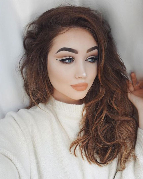 15-Winter-Themed-Face-Makeup-Looks-Ideas-2017-5