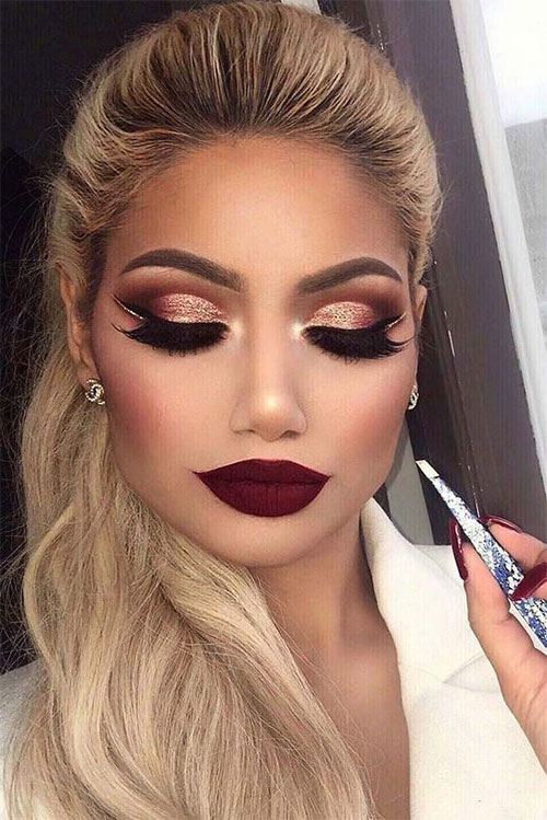 15-Winter-Themed-Face-Makeup-Looks-Ideas-2017-6