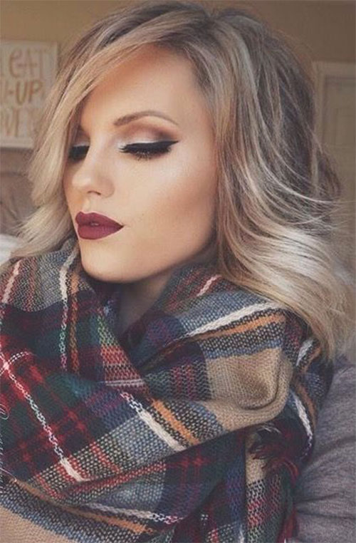 15-Winter-Themed-Face-Makeup-Looks-Ideas-2017-7