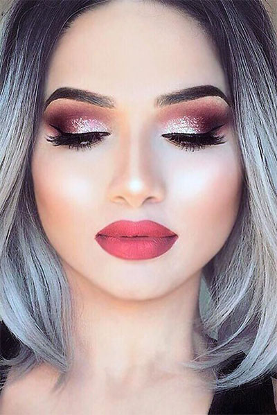 20+ Best Valentine's Day Face & Eye Makeup Ideas & Looks