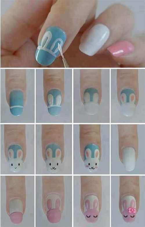 10-Step-By-Step-Easter-Nail-Art-Tutorials-For-Learners-2017-2