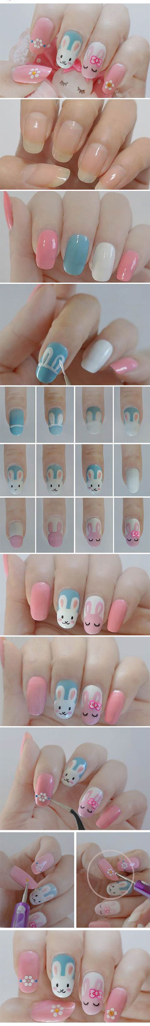 10-Step-By-Step-Easter-Nail-Art-Tutorials-For-Learners-2017-7