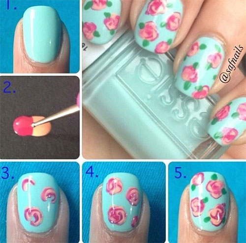 10-Step-By-Step-Spring-Floral-Nail-Art-Tutorials-For-Learners-2017-11
