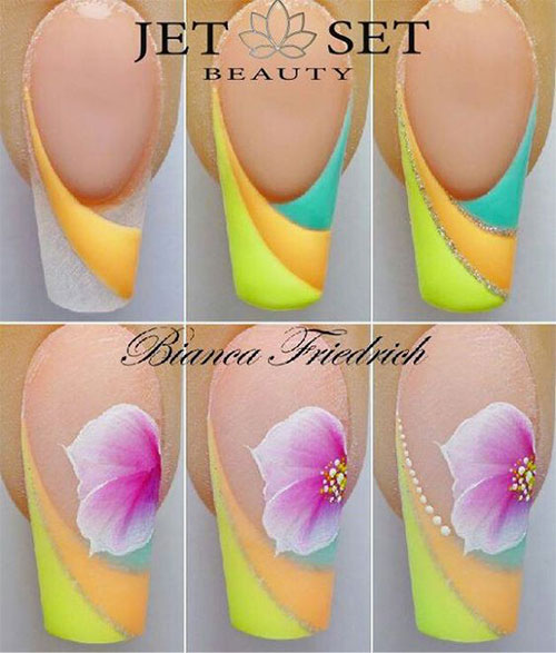 10-Step-By-Step-Spring-Floral-Nail-Art-Tutorials-For-Learners-2017-3