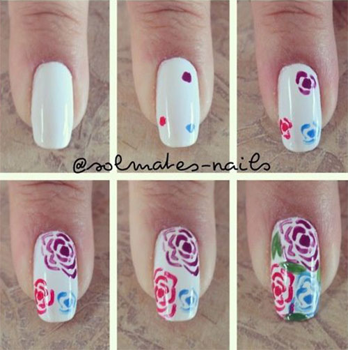 10-Step-By-Step-Spring-Floral-Nail-Art-Tutorials-For-Learners-2017-4