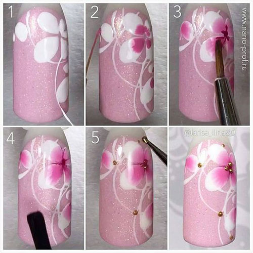 10-Step-By-Step-Spring-Floral-Nail-Art-Tutorials-For-Learners-2017-5