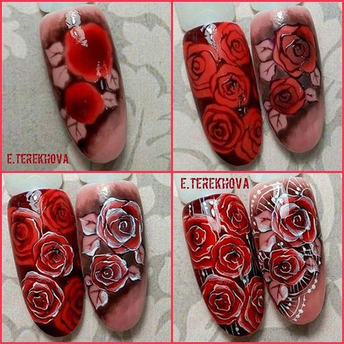 10-Step-By-Step-Spring-Floral-Nail-Art-Tutorials-For-Learners-2017-6