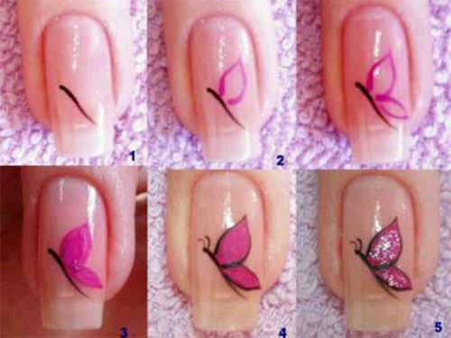 10-Step-By-Step-Spring-Floral-Nail-Art-Tutorials-For-Learners-2017-7