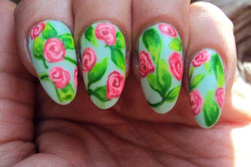 20-Floral-Nail-Art-Designs-Ideas-2017-Spring-Nails-19