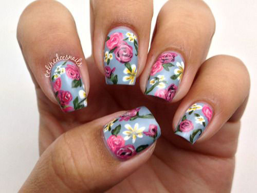 20-Floral-Nail-Art-Designs-Ideas-2017-Spring-Nails-9