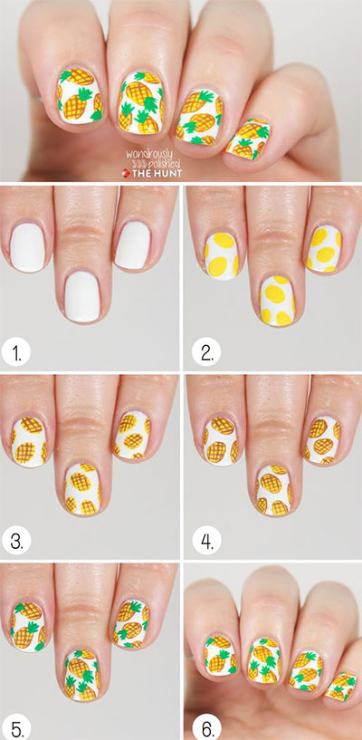 12-Step-By-Step-Summer-Nail-Art-Tutorials-For-Learners-2017-1