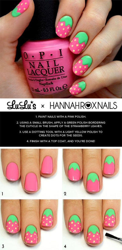 12-Step-By-Step-Summer-Nail-Art-Tutorials-For-Learners-2017-2