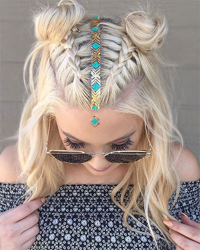 12-Summer-Hairstyle-Bun-Updo-Ideas-For-Girls-Women-2017-1