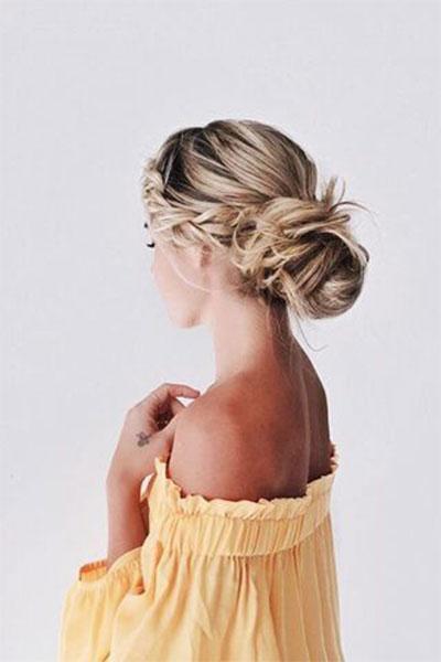 12-Summer-Hairstyle-Bun-Updo-Ideas-For-Girls-Women-2017-11