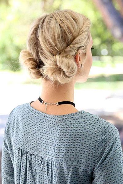 12-Summer-Hairstyle-Bun-Updo-Ideas-For-Girls-Women-2017-9