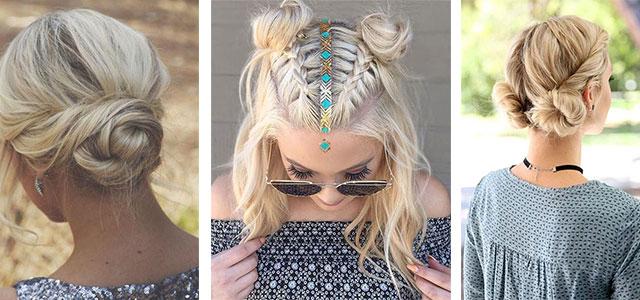 12-Summer-Hairstyle-Bun-Updo-Ideas-For-Girls-Women-2017-F