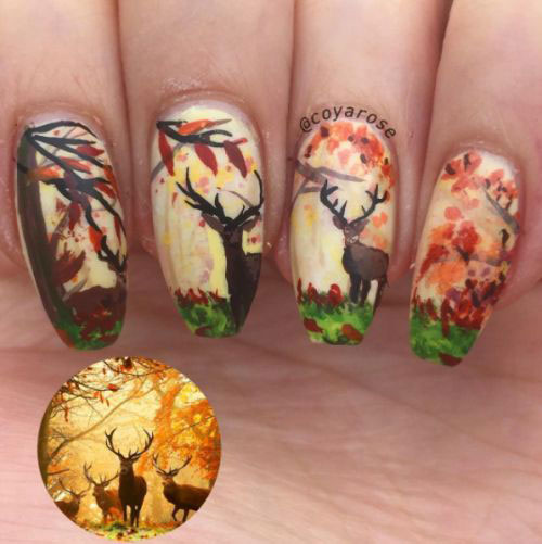 25-Best-Autumn-Nails-Art-Designs-Ideas-2017-19