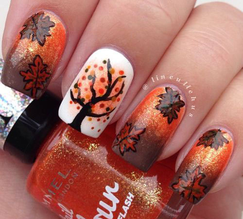 25-Best-Autumn-Nails-Art-Designs-Ideas-2017-5