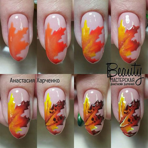 Step-By-Step-Autumn-Nail -Art-Tutorials-For-Learners-2017-1