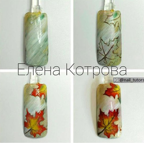 Step-By-Step-Autumn-Nail -Art-Tutorials-For-Learners-2017-5