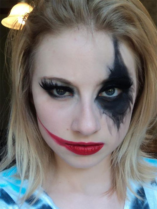 10 halloween batman make up ideen f r m dchen frauen 2018 neue trend haar tatto. Black Bedroom Furniture Sets. Home Design Ideas