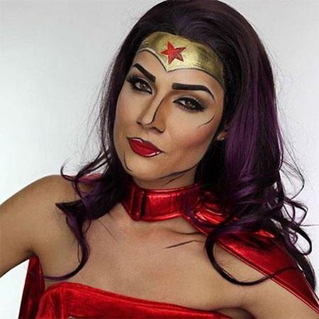 10-Halloween-Wonder-Woman-Makeup-Looks-For-Girls-2017-3