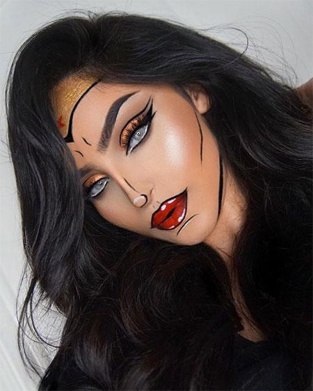 10-Halloween-Wonder-Woman-Makeup-Looks-For-Girls-2017-4