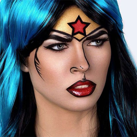 10-Halloween-Wonder-Woman-Makeup-Looks-For-Girls-2017-7