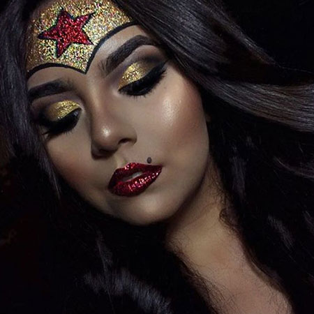 10-Halloween-Wonder-Woman-Makeup-Looks-For-Girls-2017-9