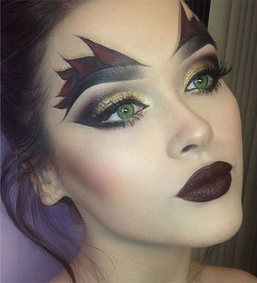 12-Spooky-Halloween-Devil-Makeup-Ideas-For-Girls-Women-2017-9