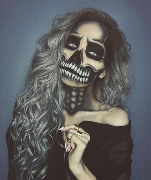 15-Creepy-Halloween-Skull-Make-Up-Looks-For-Girls-Women-2017-10
