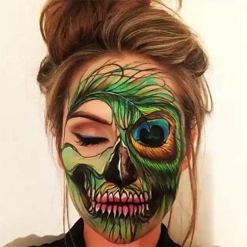 15-Creepy-Halloween-Skull-Make-Up-Looks-For-Girls-Women-2017-12