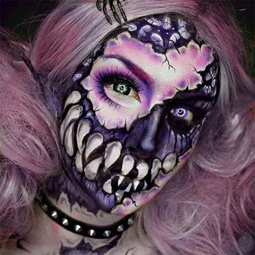 15-Creepy-Halloween-Skull-Make-Up-Looks-For-Girls-Women-2017-13