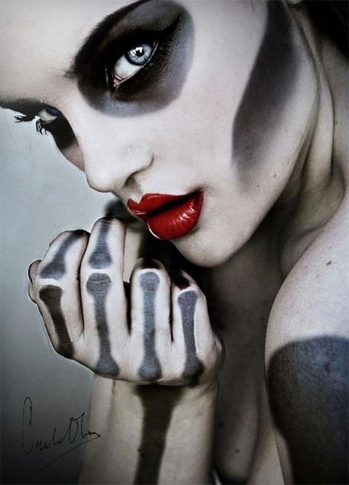 15-Creepy-Halloween-Skull-Make-Up-Looks-For-Girls-Women-2017-16
