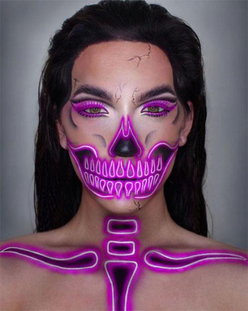 15-Creepy-Halloween-Skull-Make-Up-Looks-For-Girls-Women-2017-2