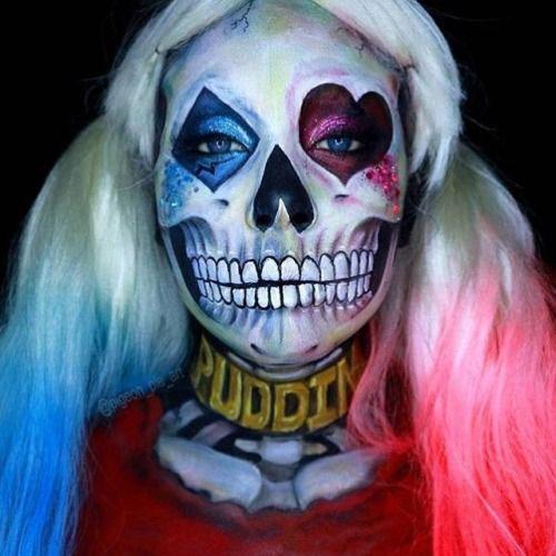 15-Creepy-Halloween-Skull-Make-Up-Looks-For-Girls-Women-2017-4