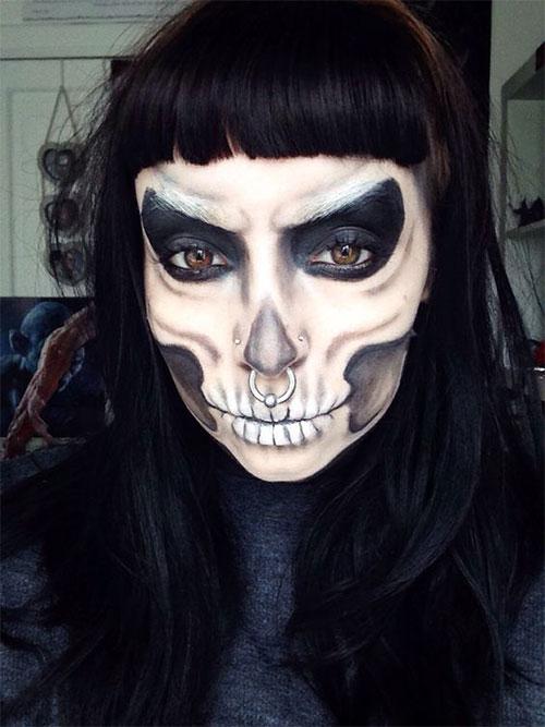 15-Creepy-Halloween-Skull-Make-Up-Looks-For-Girls-Women-2017-5