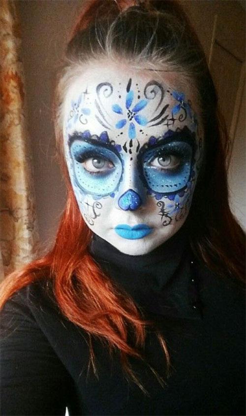 15-Creepy-Halloween-Skull-Make-Up-Looks-For-Girls-Women-2017-6