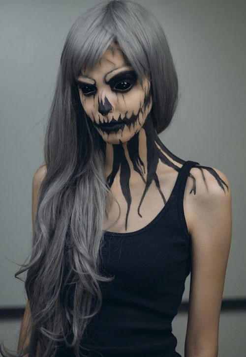15-Creepy-Halloween-Skull-Make-Up-Looks-For-Girls-Women-2017-8