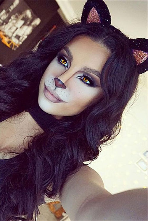 15-Halloween-Cat-Face-Makeup-Ideas-For-Girls-Women-2017-11