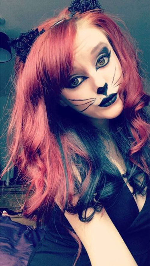 15-Halloween-Cat-Face-Makeup-Ideas-For-Girls-Women-2017-13