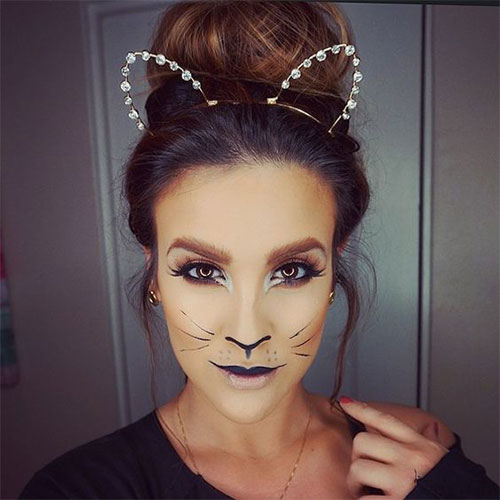15-Halloween-Cat-Face-Makeup-Ideas-For-Girls-Women-2017-2