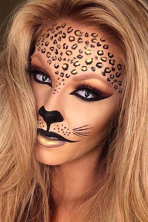 15 halloween cat face makeup ideas for girls women 2017 modern fashion blog. Black Bedroom Furniture Sets. Home Design Ideas