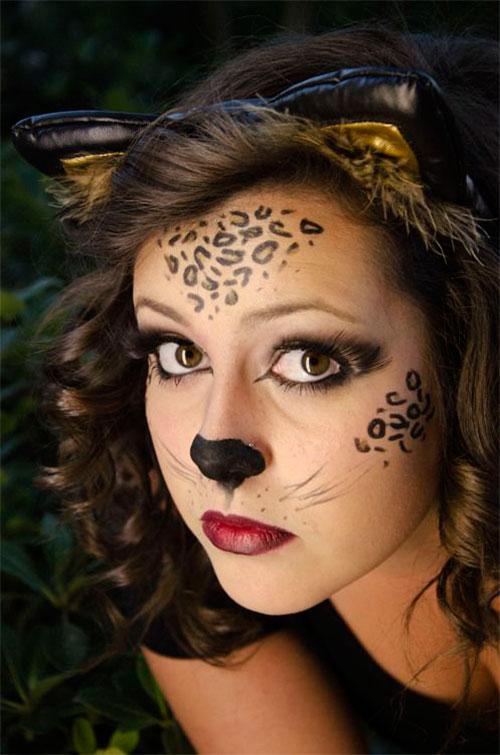 15 Halloween Cat Face Makeup Ideas For Girls U0026 Women 2017 | Modern Fashion Blog