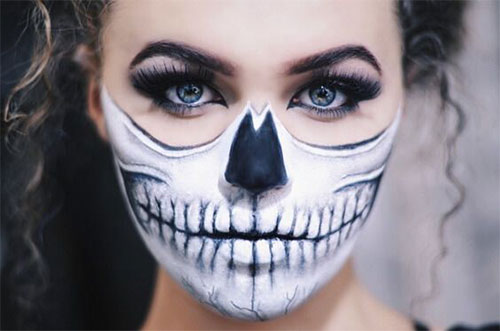 15-Scary-Halloween-Mouth-Teeth-Half-Face-Makeup-For-Girls-Women-2017-12