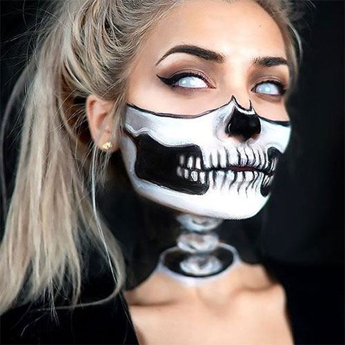 15-Scary-Halloween-Mouth-Teeth-Half-Face-Makeup-For-Girls-Women-2017-13