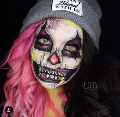 15-Scary-Halloween-Mouth-Teeth-Half-Face-Makeup-For-Girls-Women-2017-2