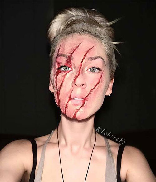 15-Scary-Halloween-Mouth-Teeth-Half-Face-Makeup-For-Girls-Women-2017-3