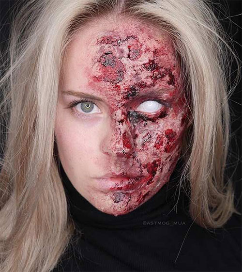 15-Scary-Halloween-Mouth-Teeth-Half-Face-Makeup-For-Girls-Women-2017-4
