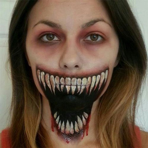 15-Scary-Halloween-Mouth-Teeth-Half-Face-Makeup-For-Girls-Women-2017-5
